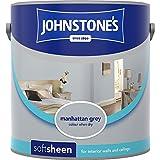 Johnstones No Ordinary Paint Water Based Interior Soft Sheen Emulsion Manhattan Grey 2.5 Litre