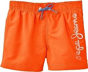 Pepe Jeans Guido - Bañador para niño, talla FR: 16 ans (Taille fabricant: 16/L) - talla francesa, color naranja neón