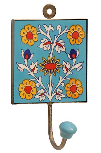 Wednesday offers square ceramic iron wall hook with for Ways to hang hats on wall