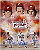 Pete Rose, Steve Carlton and Mike Schmidt Philadelphia Phillies 1980 World Series Autographed 16