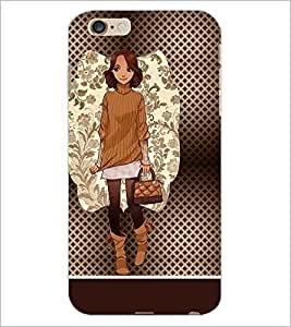 PrintDhaba Smart Girl D-1359 Back Case Cover for APPLE IPHONE 6 (Multi-Coloured)
