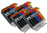 The Ink Squid 4 Sets Of 5 Compatible Pgi-550Bk /Cli-551Bk/C/M/Y Xl Black Cyan Magenta And Yellow High Capacity Compatible Ink Cartridges For Canon Pixma Ip7250 Mg5450 Mg6350 Mx925 Printers