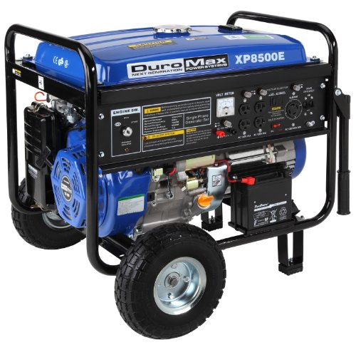 51J7k1nPFTL. SL500  DuroMax XP8500E 8,500 Watt 16 HP OHV 4 Cycle Gas Powered Portable Generator With Wheel Kit And Electric Start