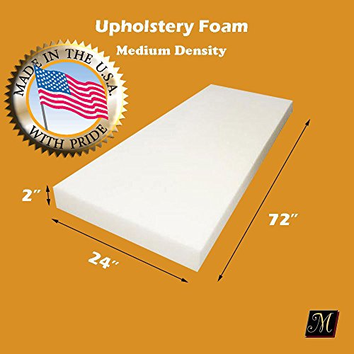 "Buy Discount Upholstery Foam Cushion Medium Density Standard 2"" X 24"" X 72"" (Seat Rep..."