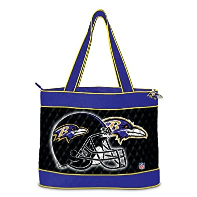 NFL Baltimore Ravens Tote Bag With 2 Cosmetic Cases by The Bradford Exchange