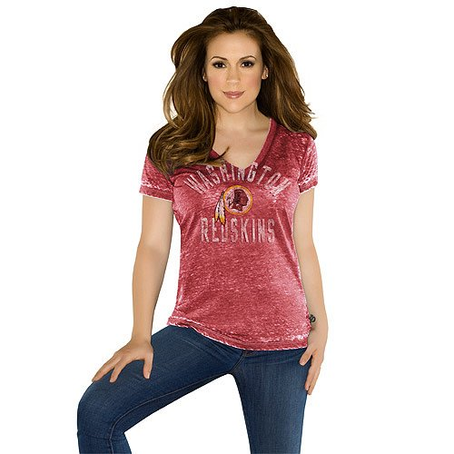 NFL Touch by Alyssa Milano Washington Redskins Women's Fire Drill Premium T-Shirt - Burgundy (X-Small) at Amazon.com