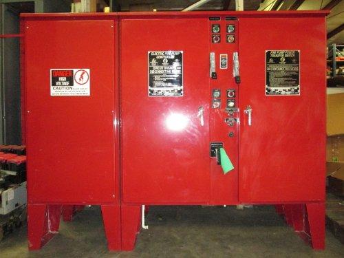 Firetrol Electric Fire Pump Controller 50 Hp 480V Power Transfer Switch Fta1800