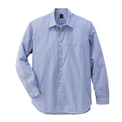 (タケオ キクチ)TAKEO KIKUCHI GIZA88 120/2ブロードストライプシャツ ブルー系(391) 03(L)