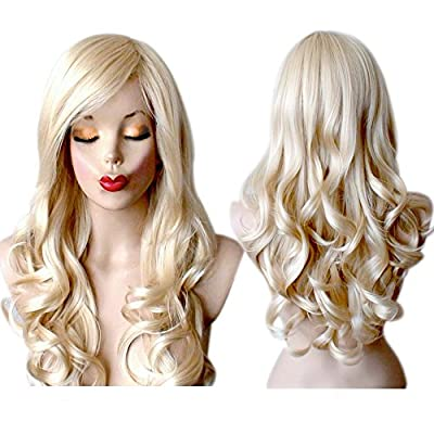 Long Blonde Wig Wavy Blonde Wigs For Women by Grimm Hair