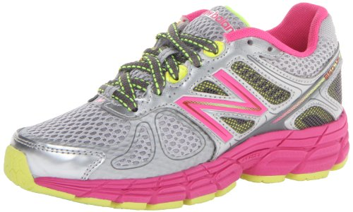 New Balance Unisex-Child Running Shoes KJ860GW Grey/Pink 6 UK Child, 39 EU