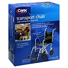 Carex Transport Chair, with Swing-Away Leg Rests, 1 transport chair