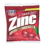 Rite Aid Zinc, Cold Relief Lozenges, Natural Cherry 18 ea