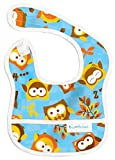 Bumkins Waterproof Starter Bib, 6 to 9 months, Blue Owl