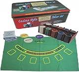 51J7qiknLKL. SL160  Casino Texas HoldEm Poker Set mit 200 Spielchips, 2 Karten Decks,.... in exklusiver Metallbox