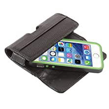 buy Quickflipcase For Iphone 5 / Iphone 5S / Iphone 5C, Premium Leather Horizontal Case With Belt Clip And Magnetic Enclosure, Also Fits Other Phones Of Similar Size (Black)