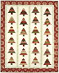 """Tree Lot Quilt Pattern, Jelly Roll 2.5"""" Strip Set Friendly, 5 Sizes Options Including Table Runner"""