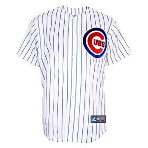 MLB Chicago Cubs Home Replica Baseball Youth Jersey, White Royal by Majestic