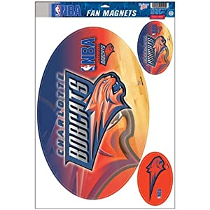 Buy Charlotte Bobcats Official NBA 11x17 Car Magnet 3-Pack Set by WinCraft