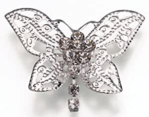 Butterfly Rhinestone Bridal Bouquet Picks Set of 2