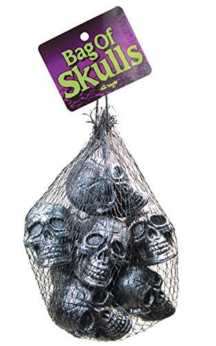 Bag of Silver Skulls 10ct - 1