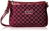 Addons Geometric Jacquard Women's Sling Bag (Maroon)