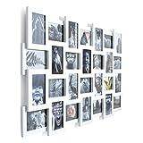 Bilderrahmen Fotogalerie Collage für 28 Bilder MDF weiß ca. B104 x H80 cm