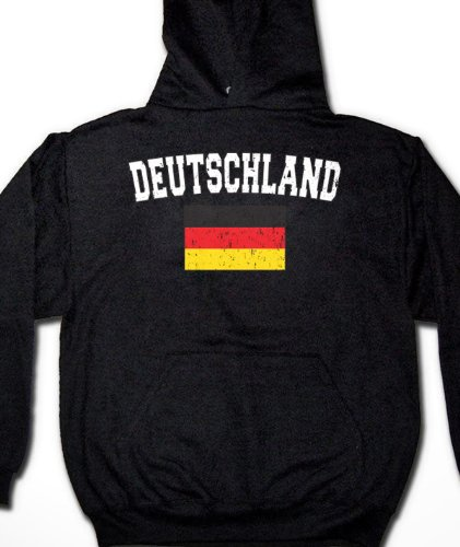 Deutschland Flag International Soccer Sweatshirt, Germany Soccer Mens Hoodie