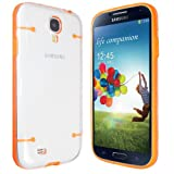 Orange Samsung Galaxy S4 i9500 Transparent Frame Clear Glowing In The Dark Hard PC Phone Case Cover - Part of JJOnlineStore Accessories