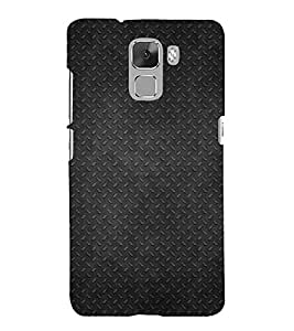 Fuson Premium Back Case Cover Black pattern With Purple Background Degined For Huawei Honor 7