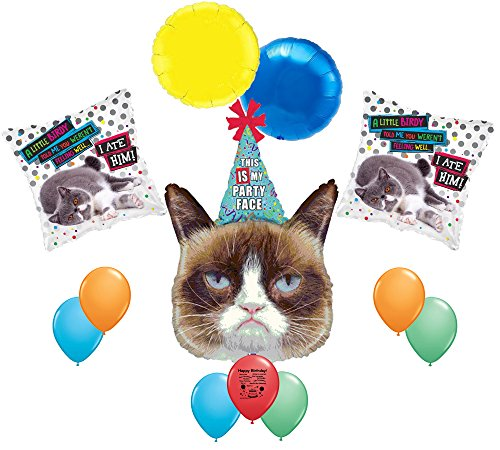 Grumpy Cat Party Face Balloon Decorating Kit (Grumpy Cat Party Supplies compare prices)