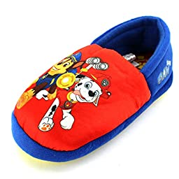 Paw Patrol Kids A-Line Slippers (7/8 M US Toddler, Red Marshall & Chase)