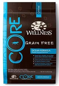Wellness CORE Natural Grain Free Dry Dog Food, Ocean Whitefish, Herring & Salmon Recipe, 12-Pound Bag