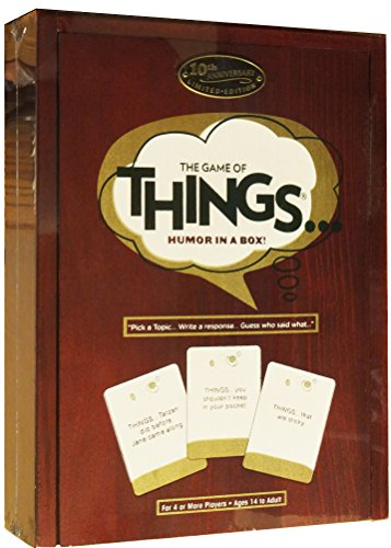 The Game of Things.. Humor in a Box! 10th Anniversary Limited Edition Wood Book Collection (Things Game compare prices)