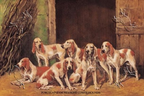 Canvas Print, Porcelaine or Franche Comet Hounds - 30 x 20