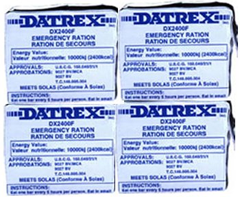 4 Datrex 2400 Calorie Emergency Food Bars (Pa...