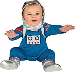 Rubies Costume Babys First Halloween Astronaut 1 Piece Headpiece and Booties