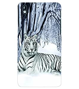 ColourCraft White Tiger Back Case Cover for HTC DESIRE 816