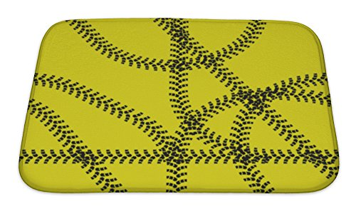 Gear New Bath Rug Mat No Slip Microfiber Memory Foam, Yellow Traces Of Tire Covers Desktop Illustration, 24x17 (Car Rims 24 Inch With Tires compare prices)