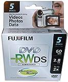 FujiFilm 2X 2.8GB Mini Double-Sided DVD-RW 10-Pak in Jewel Cases