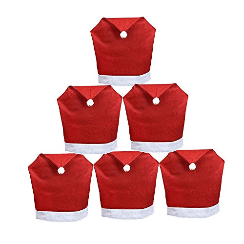 Christmas Santa Claus Hat Chair Back Covers
