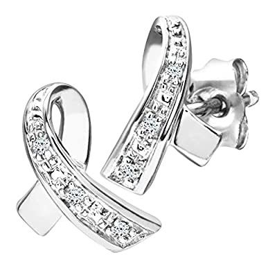 Ariel 9ct Diamond Kiss Earrings
