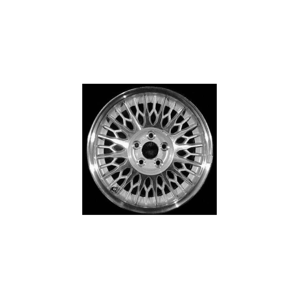 95 98 LINCOLN MARK VIII ALLOY WHEEL RIM 16 INCH, Diameter 16, Width 7 (LACY SPOKE), 39mm offset, MACHINED FACE. SILVER VENTS, 1 Piece Only, Remanufactured (1995 95 1996 96 1997 97 1998 98) ALY03232U10