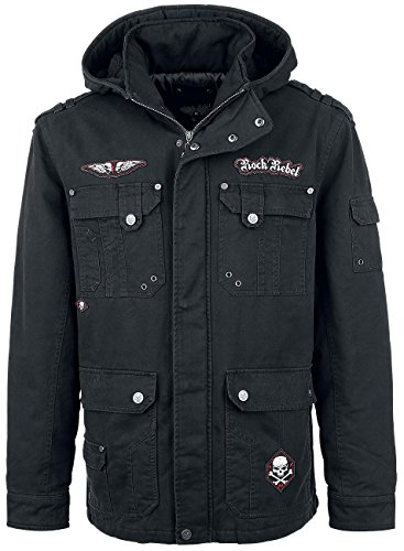 Rock Rebel by EMP Skull Jacket II Giacca nero XXL