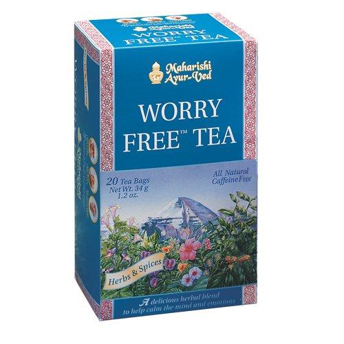 Worry Free Herbal Tea, 20 Herbal Tea Bags, 1.2 Oz (34 G)