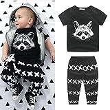 Winer 新生児 子供 赤ちゃん男の子衣装 t シャツ トップス + パンツ 夏服セット 0~24月 (80) ランキングお取り寄せ