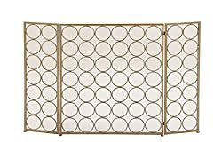 Benzara 50365 Remarkable Metal Fire Screen by Benzara