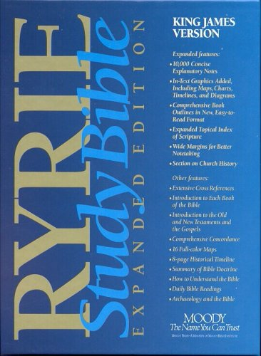 King James Version: Blue Regular: Red Letter Editions (Ryrie study Bible expanded edition)