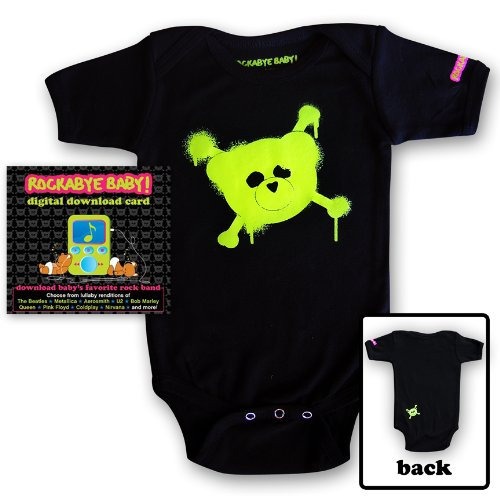 Rockabye Baby! Digital Download Card Gift Package + Rockabye Baby 100% Organic Cotton Onesie (Green) front-225976