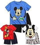 Boys Mickey Mouse Pyjamas Kids Disney Pjs T Shirt Short Set New 3 4 6 8 Years