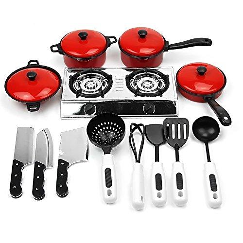 13 pz Kids Play House cucina giocattolo giocattolo educativo includono cucina pentole padelle cottura cibo piatti pentole pentole Playset